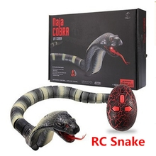 New rc snake simulation Rattlesnakes cobra remote control animals toys Infrared sensor tricky joke toy best gift free shipping