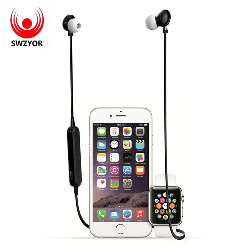 SWZYOR S360 Wireless Bluetooth Earphone Sweatproof Sport Headset Stereo Headsets With Mic for iPhone Samsung HTC Huawei xiaomi bluetooth sunglasses sun glasses wireless bluetooth headset stereo headphone with mic handsfree for iphone samsung huawei xiaomi