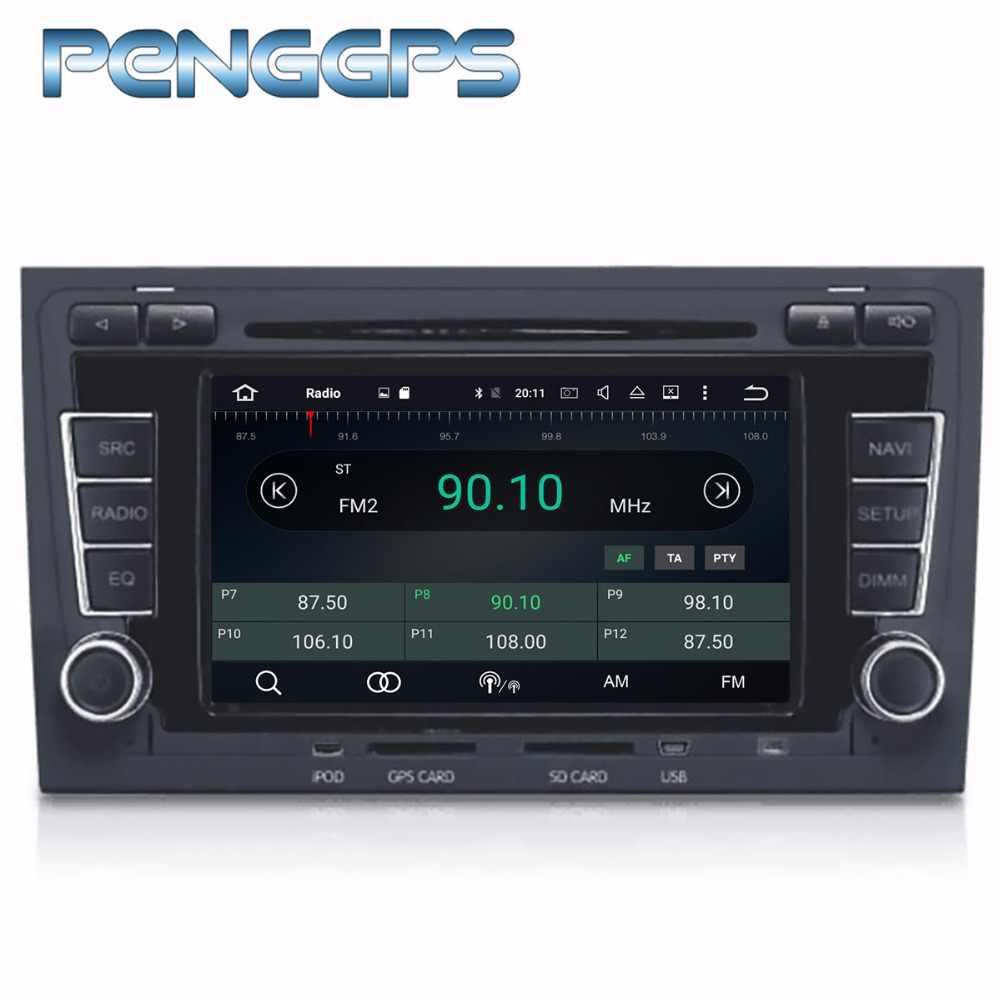 Octa Núcleo CD DVD Player Din 2 A4 S4 RS4 Estéreo Android 8.0 Rádio Do Carro para Audi 2003-2012 GPS Autoradio unidade central de Navegação WI-FI