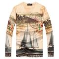 3 D printed t shirt fashion Streetwear style! long sleeve cotton 3 D printed t-shirt many pattern good quality 3 D t shirt men