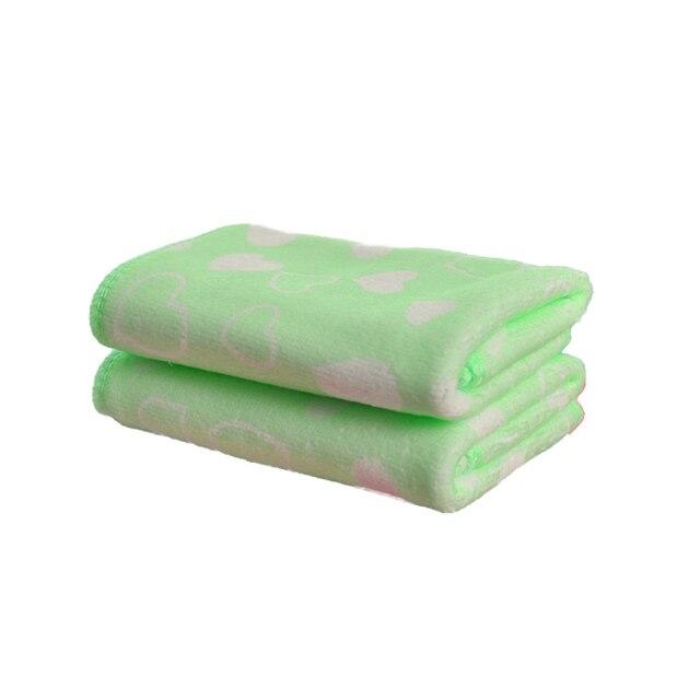 25x50 cm Formato Morbido In Microfibra Assorbente Asciugamano Bambino Del Bambino Cuore Del Modello di Stampa A Mano e Viso Asciugamano