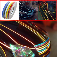 Car Stickers Super Reflective Decorative strips car-styling Auto Refit Warning line stripe Automobiles Exterior Accessories
