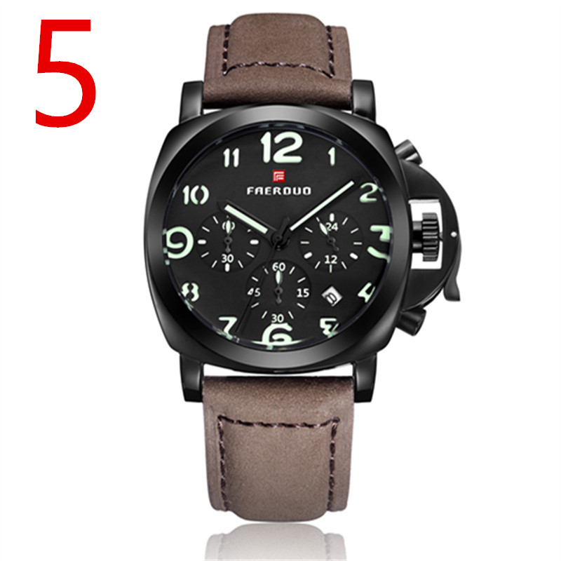 The elegant and luxurious men's business quartz watch shows a mature man's charm. 18
