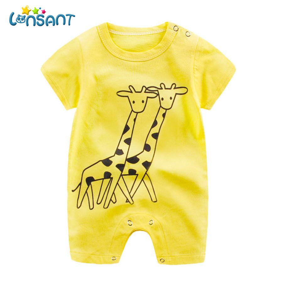 LONSANT 2018 Baby Summer Jumpsuit Unisex Baby Body Clothes Overall Short Sleeve   Rompers   High Quality Cotton Roupas Dropshipping