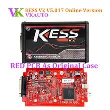 Kess V5.017 EU версия с Красный pcb Поддержка 140 протокол без базовых ограничений Kess V2 онлайн версия ECU программирующее устройство Бесплатная доставка