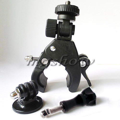 Bike Bicycle / Motorcycle Handlebar Handle Bar Camera Mount + Tripod Adapter For Gopro Hero 3 2 1 GoPro Mount+Tripod+Screw & Nut