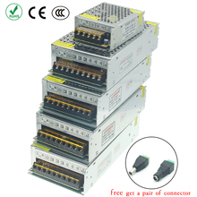 Power Supply unit led driver Lighting Transformers AC 110V 220V to 12V 5V 24V 36V 3V 1A 2A 5A 6A 10A 15A 20A 25A 30A strip light 12v 30a iron case power supply black silver ac 110 220v