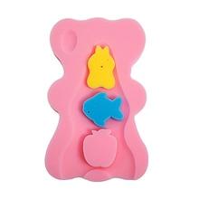 Уход за ребенком душ поддержка тела защитная пена коврик Мягкая губка младенец милый медведь домашнее сиденье новорожденный держатель противоскользящая подушка для ванны