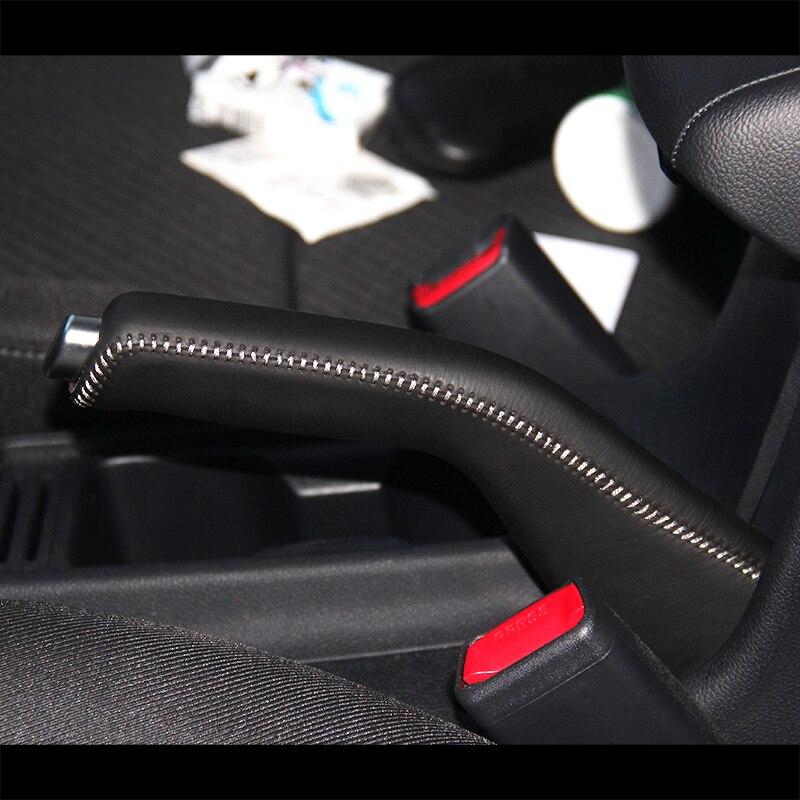 LS AUTO Top Genuine Leather Case For Handbrake For Kia KX3 Hand Brake Cover Interior Auto Cover Handbrake Case For Handbrake