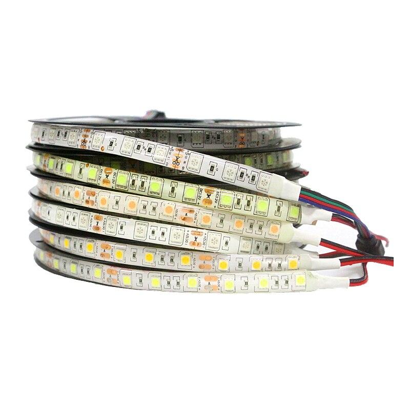 0,5/1/2/3/4/5 Mt Smd 5050 Rgb Led Streifen Wasserdicht 60 Leds /m Dc 12 V Fita Led Licht Streifen Flexible Neon Diode Band Luz Monochrome Attraktiv Und Langlebig