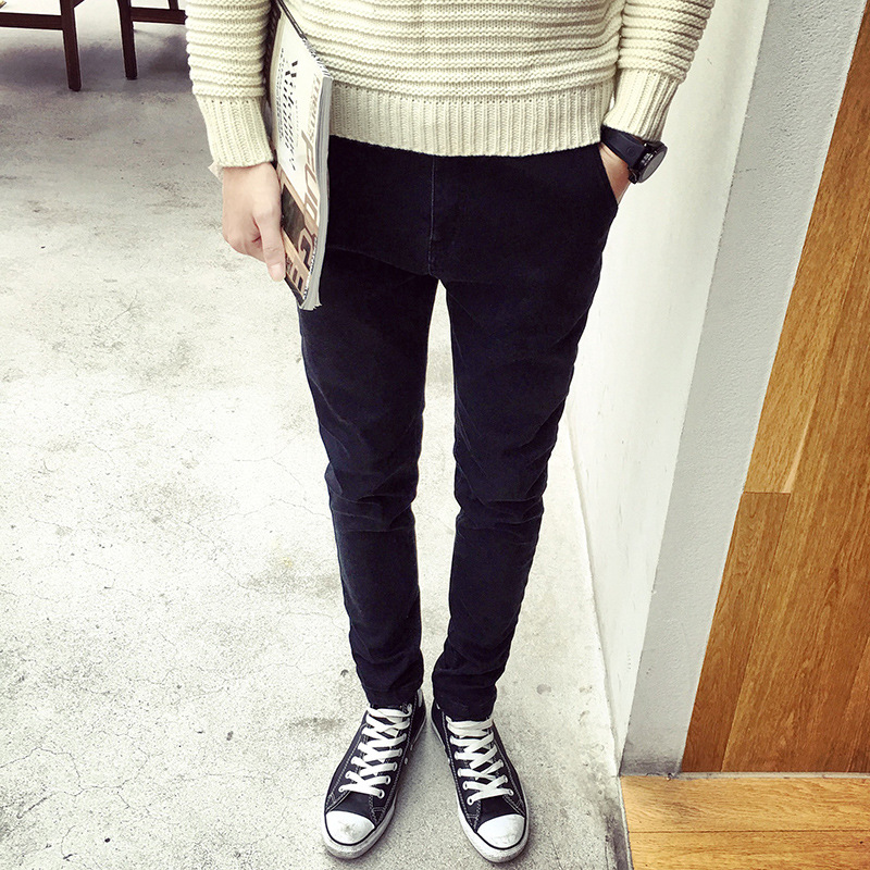 New 2017 Fashion Casual Men thin students black blue jeans Hip Hop SKinny Slim Fit Pencil Pants Solid Black Leg Trousers fashion mens skinny jeans men denim pants light blue solid casual male trousers 2017 brand clothing slim fit pencil jeans pant