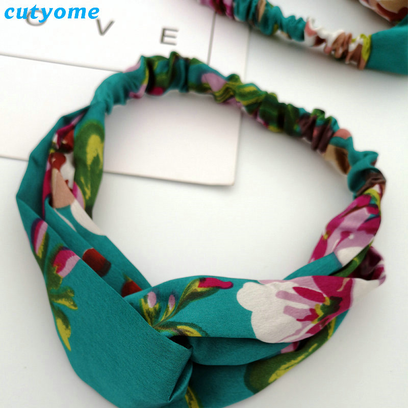 Family Mother and Daughter Floral Headband Summer Bohemia Women Girls Elastic Headwraps Family Matching Hair Accessories Set (31)