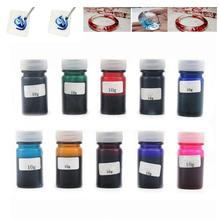 цены Hot Sale 10g High Concentration DIY UV Resin Liquid Dye Colorant Pigment Resin Mix Color Epoxy for DIY Jewelry Making Craft Drop