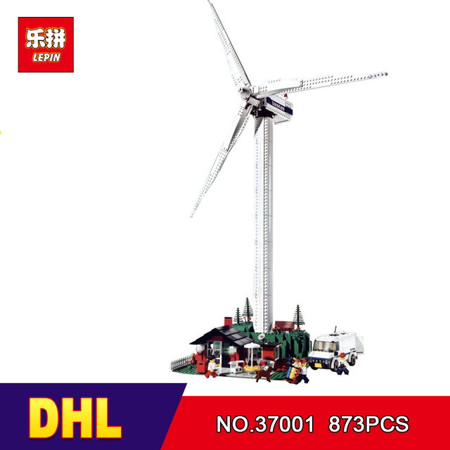 DHL Lepin 37001 873Pcs Genuine Street Series Vestas Wind Turbine Children Building Blocks Bricks Toys Model