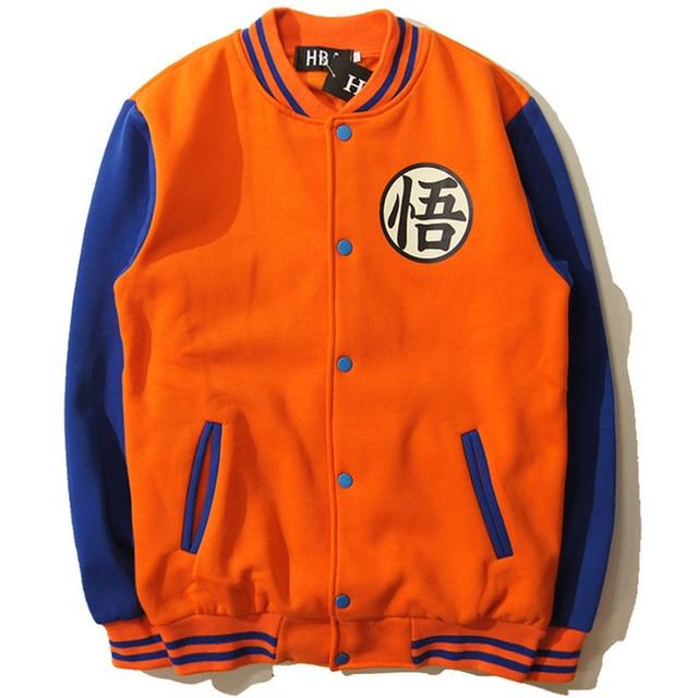 New Japanese Anime Dragon Ball Goku Varsity Jacket Autumn Casual Sweatshirt Hoodie Coat Jacket Brand Baseball Jacket Lh23 Z15