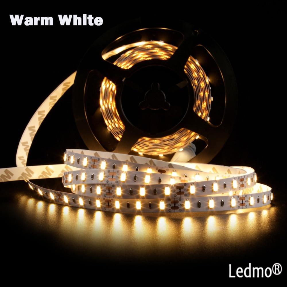 5630 Led Strip Light 5M 300Leds Balta / silta, balta, bez ūdensnecaurlaidīga DC12V 60Leds / M Fiexble gaismas lentes lente, iekštelpu spilgti