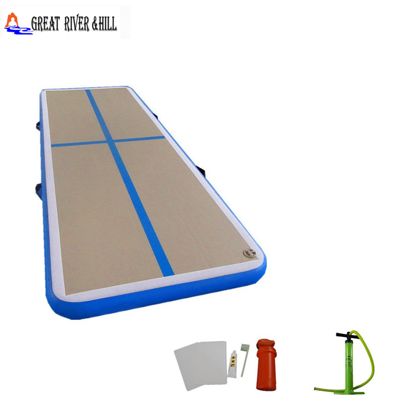 Gymnastics air track soft good bounce inflatable mats landing floor 3mx1mx0.1m