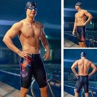 361 Мужской купальный костюм размера плюс, обтягивающие плавки для плавания, быстросохнущие плавательные шорты для бассейна, тренировочная ...