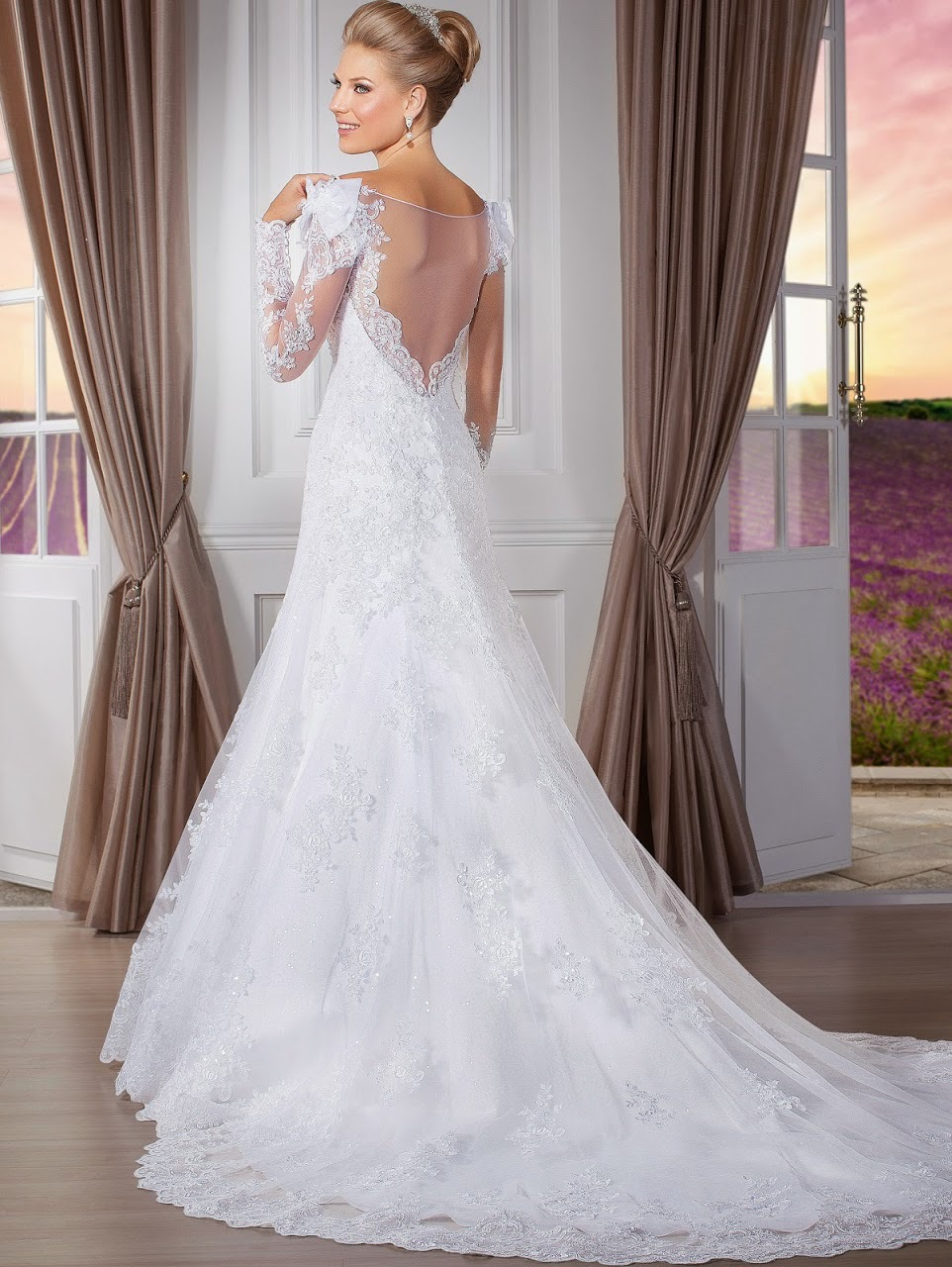 Long Sleeves Lace Wedding Dress Memraid Tail Beaded Y Backless Detachable A228 In Dresses From Weddings