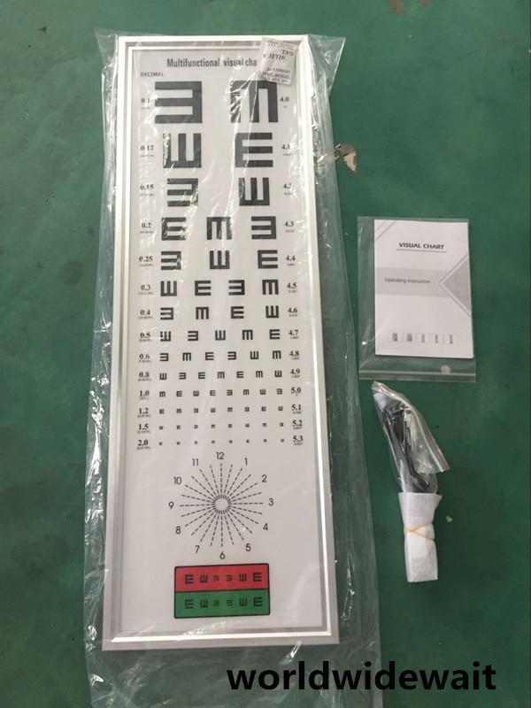 5M Standard Logarithmic Visual Acuity Chart LED Light Box Astigmatism Chart chart throb