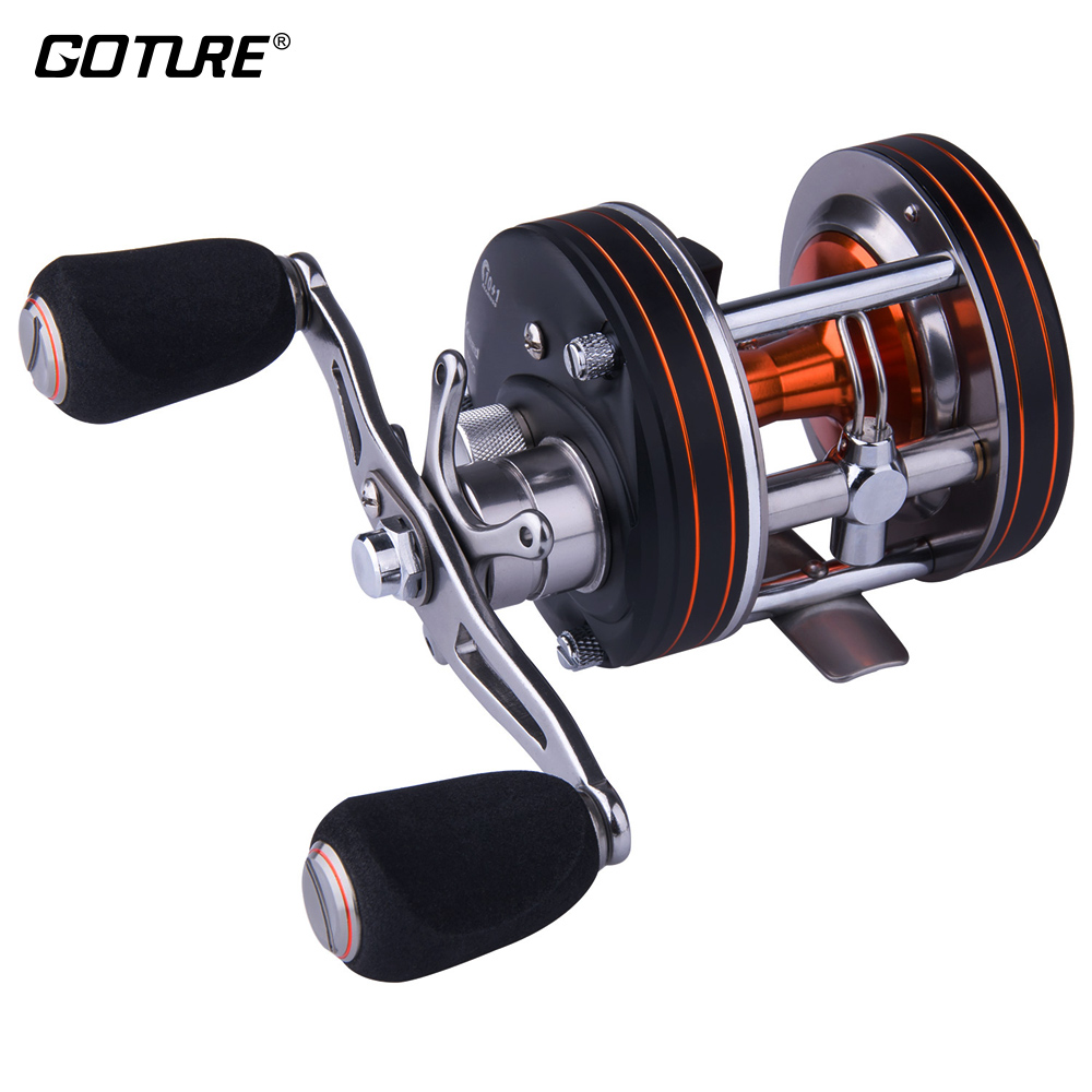 цена на Goture Heavy Duty Cast Drum Fishing Reel 8-pin Centrifugal Brake Bastcasting Reel 10+1BB Left/right Hand Boat Ocean Reels