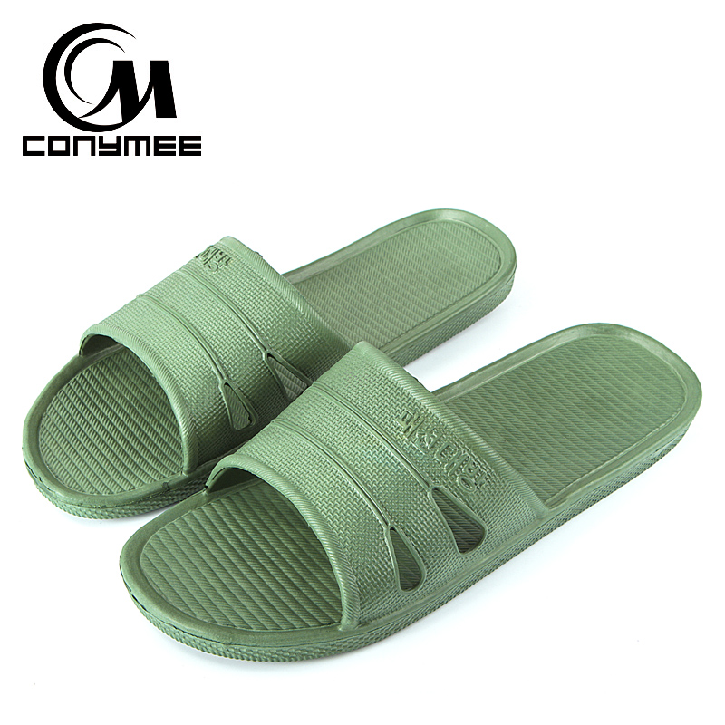CONYMEE New 2018 Summer Flip Flops Men Shoes Big Size Indoor Home Slippers Beach Sandals For Man Bath Sandalias Zapatos Hombre