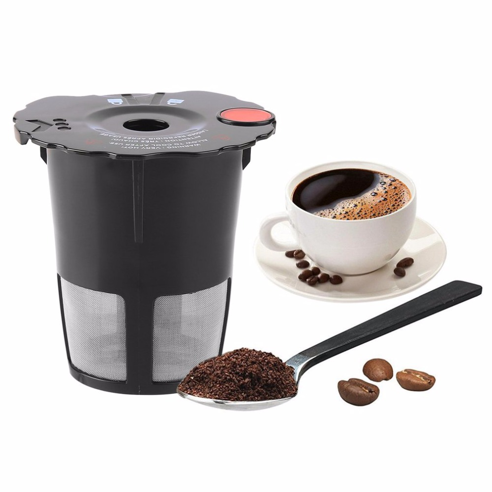 Eco-Friendly Coffee Filter Cup Reusable Convenient Filter Bottle With Cup Cover For Coffee Maker Coffee Machine Easy To Wash keurig 2 0 k carafe refillable reusable k cup carafe coffee filter k cups combo new arrival