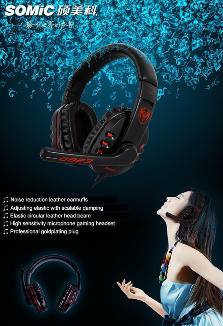 Pro Gaming Headphones Somic G923 Casque Computer Game Gamer Headset With Microphone Stereo Head Phones Hot Sale (17)