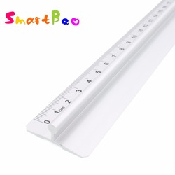 40cm metalowa linijka z uchwytem linijka prosta narzędzie do pomiaru w Linijki od Artykuły biurowe i szkolne na