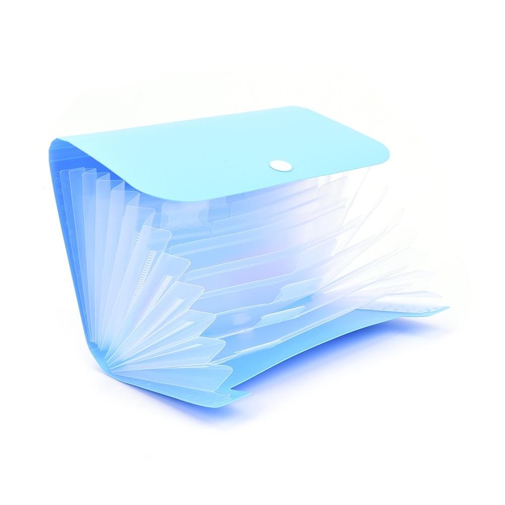 1pc File Folder Expanding Wallet Small Plastic Candy Color Document Bag Bill Folder Random Color