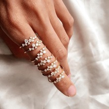 HOMOD 2019 New Fashion Weave Crystal Rings For Women Gold/Silver/Rose Gold Color Female Ring Party Engagement Jewelry Wholesale