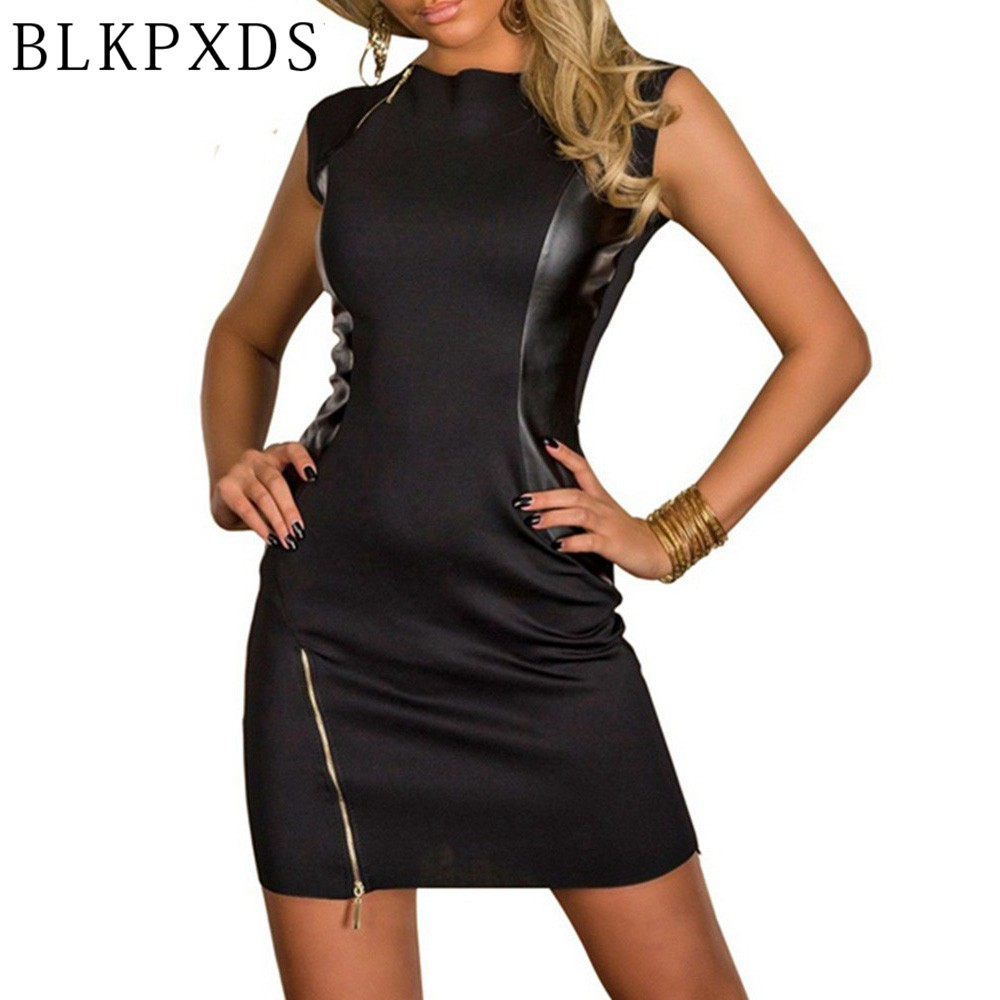 Blkpxds Xl Xxl New Rock Black Dress Fashion Faux Leather