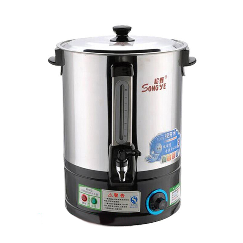 Commercial Electric Hot Water Bucket Stainless Steel Insulation Boiling Water Bucket Boiled Water Tea  Heater Large Capacity