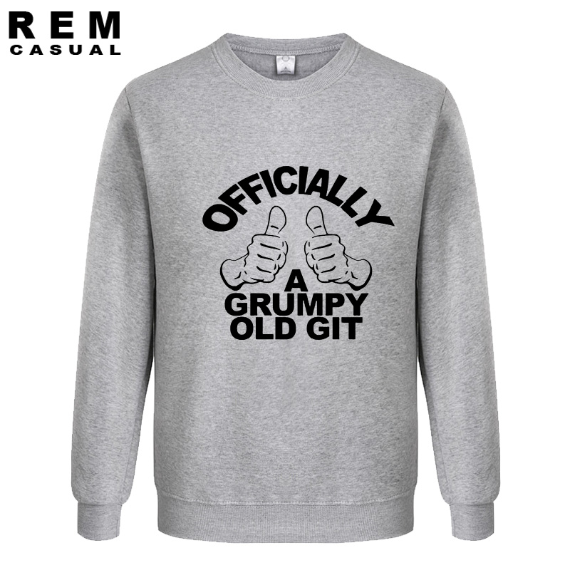 Officially a Grumpy old Git. Birthday Gift FUNNY MENS Fashion Custom Men Print Plus Size Hoodies, Sweatshirts
