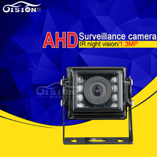 720P 1.3MP Waterproof Metal Vehicle AHD Rear View Back Mini Camera 4Pin 3.6MM Pal Mirror Image Security Cam For Bus Truck Auto