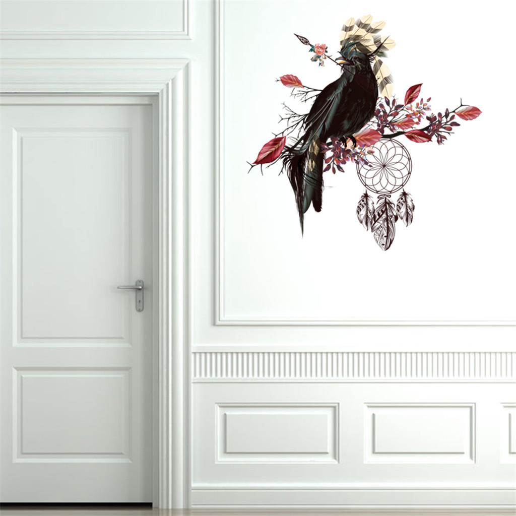 Adhesif Sur Carrelage Cuisine us $2.59 36% off wall stickers creative branch bird wall sticker living  room sofa background wall sticker carrelage adhesif cuisine-in wall  stickers