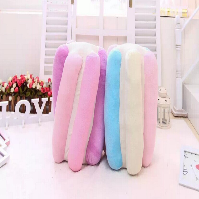 1Pc 3D Design Emulation Plush Cotton candy Decorative Cushions Throw Pillows Sofa Home Shop Hotel Decoration birthday Gift