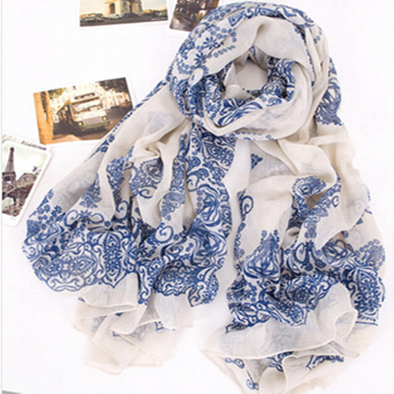 CUHAKCI 2018 Women Print Scarf Scarves Fashion Elegant Floral Spring and Autumn Accessories Arabian Scarf Thin Scarf Shawl