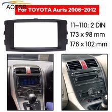 Radio deski rozdzielczej dla Toyota Auris 2006 2007 2008 2009 2010 2011 2012 podwójna ramka din Radio samochodowe stereo instalacja Dash w magazynie