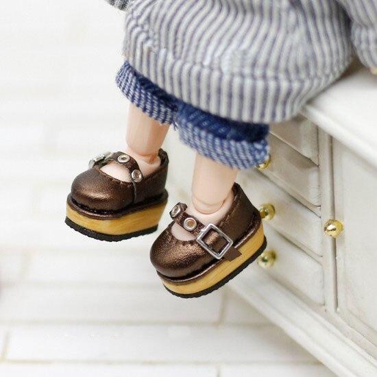 OB11 chaussures collège chaussures à semelles épaisses disponibles pour OB11 cu-poche Middie Blyth poupée accessoires chaussures pour poupées