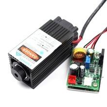 Oxlasers 12V 5W 5.5W odaklanabilir mavi lazer kafası DIY lazer oyma makinesi lazer modülü kesme TTL ile kontrol