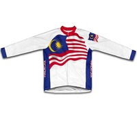 Malaysia Flag Winter Thermal Cycling Jersey Super Warm Sportswear