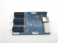 PCIe 1 To 3 PCI Express 1X Slots Riser Card Mini ITX To External 3