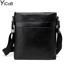 YiCoB Brand Bag Men Casual Business PU Leather Messenger Bags Shoulder Bags for iPad Boy Travel Man Crossbody Bags Male 2017 HOT