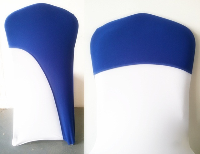ROYAL BLUE Colour Lycra Chair Covers Caps Universal For Wedding Decoration  Spandex Party Chair Cover Fit