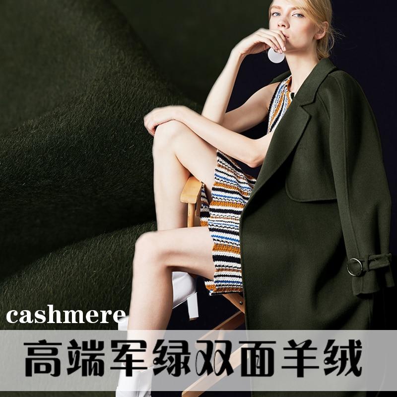 Italie commande armée vert cachemire tissu laine tissu plus épais manteau cachemire laine tissu en gros cachemire tissu