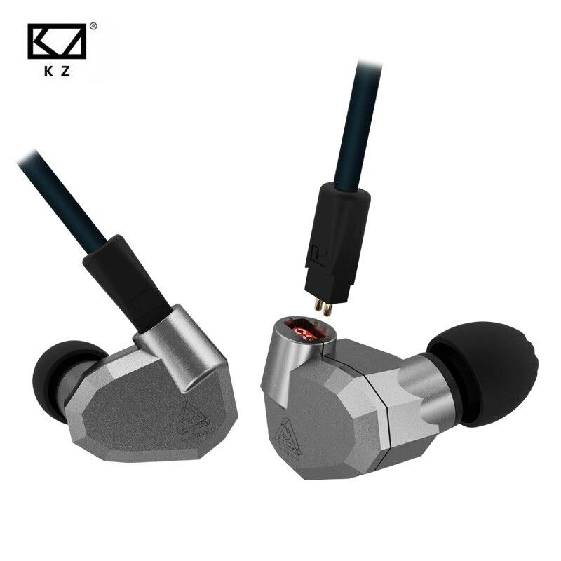 D'origine KZ ZS5 2DD + 2BA Hybride HIFI Écouteurs Dans L'oreille DJ Monito Super Basse Boules Quies Casques Stéréo Surround Écouteurs pour iPhone
