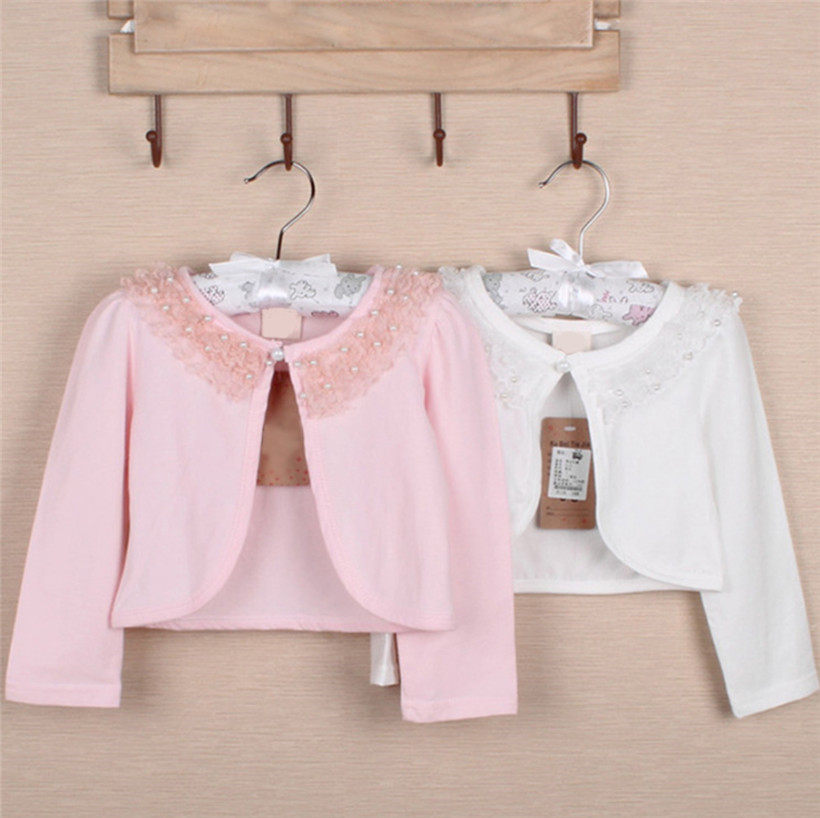 139a651a0f7 Adorable girl s long sleeve Flower Lace Bolero Wedding Bridesmaid Birthday  Party Princess Jacket Outerwear Children Coat Wrap -in Jackets   Coats from  ...