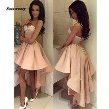 Милое короткое платье фуксии для выпускного вечера с круглым вырезом без рукавов Атласное Бальное Платье Желтое Короткое вечернее платье на молнии