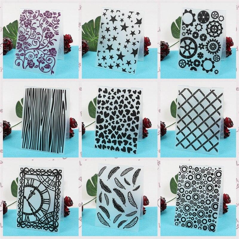 Heart Leaves Plastic Embossing Folder for Scrapbooking Paper Card Making DIY Craft Album Scrapbooking Decoration in Embossing Folders from Home Garden